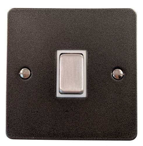 G&H FP205 Flat Plate Pewter 1 Gang Intermediate Rocker Light Switch